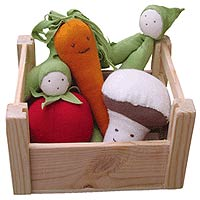 Organic Vegetable stuffed toys