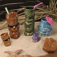 Tiki Mug Set