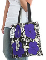 Loop Design Tote - Purple Flower