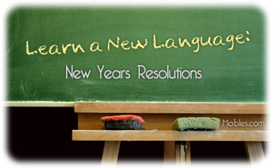 Learn A Language: New Year's Resolutions