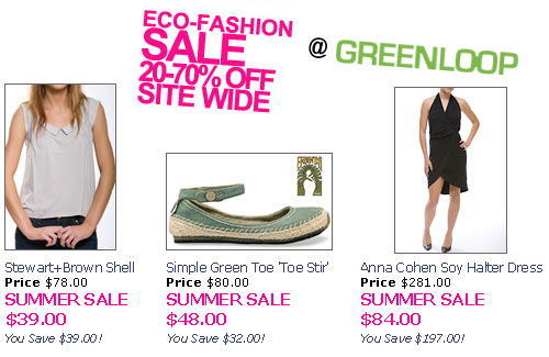 Greenloop Eco Fashion Summer Sale