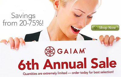 Gaiam's Annual Sale