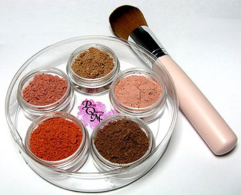 Natural Mineral Makeup from Pink Quartz Minerals