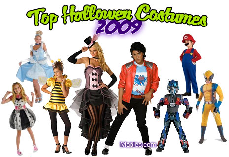 2009 Top Halloween Costumes