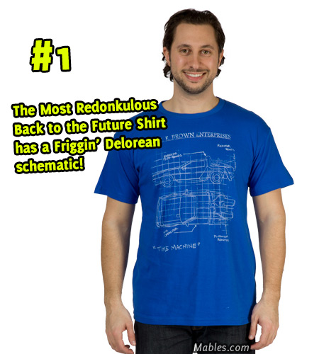Delorean Schematic shirt