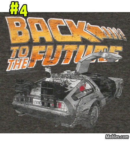 Distressed Vintage Delorean shirt