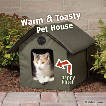 Home > Outdoor Fun > Heated Outdoor Cat House