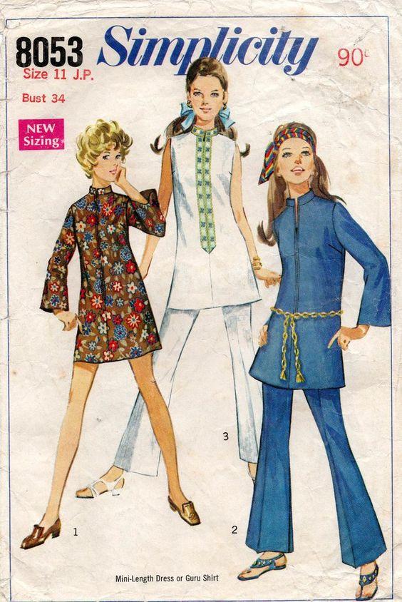 1960s dress sewing pattern